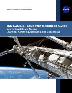 ISS L.A.B.S. Educator Resource Guide - NASA