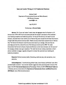 Issue and Leader Voting in US Presidential Elections - SSRN papers