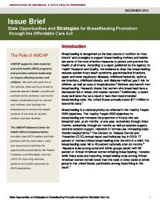 Issue Brief - AMCHP