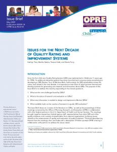 Issue Brief - BUILD Initiative