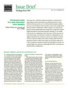 Issue Brief - IssueLab