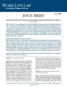 issue brief - WorkLife Law