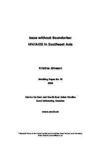 Issue without Boundaries: HIV/AIDS in Southeast Asia