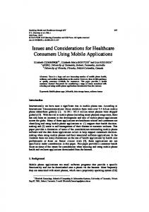 Issues and Considerations for Healthcare Consumers Using Mobile ...