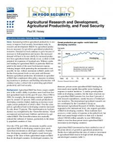 Issues in Food Security: Agricultural Research and ... - AgEcon Search