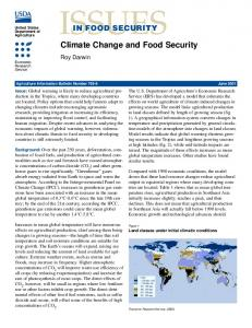 Issues in Food Security: Climate Change and Food ... - AgEcon Search