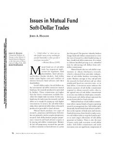 Issues in Mutual Fund Soft-Dollar Trades