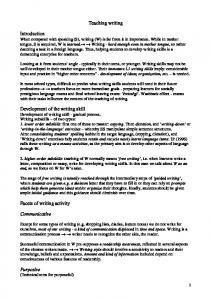 Issues in teaching writing