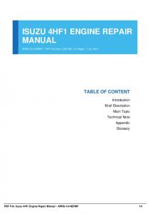 Isuzu 4hf1 Engine Manual Pdfsdocuments com MAFIADOC COM