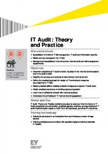 IT Audit: Theory and Practice - Ernst & Young