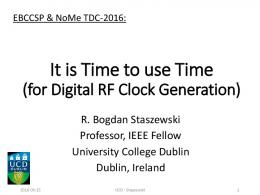 It is Time to use Time - AGH
