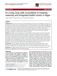 It  sa long, long walk: accessibility to hospitals ... - BioMedSearch