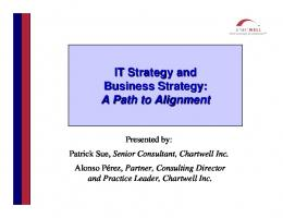 IT Strategy and Business Strategy - Information Resource ...