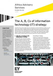 (IT) strategy - Ernst & Young