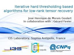 Iterative hard thresholding based algorithms for low-rank tensor recovery