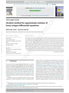 Iterative method for approximate solution of fuzzy