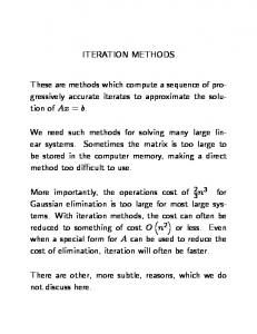 Iterative Methods