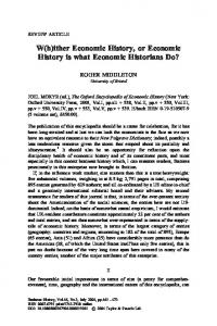 ither Economic History, or Economic History is what Economic ...