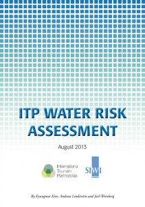 itp water risk assessment itp water risk assessment - Green Hotelier