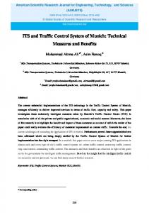 ITS and Traffic Control System of Munich: Technical Measures and ...