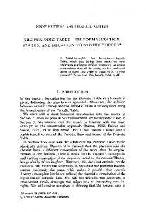 its formalization, status, and relation to atomic theory - Springer Link