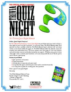 It's Trivia Quiz Night Mania! - The World Almanac