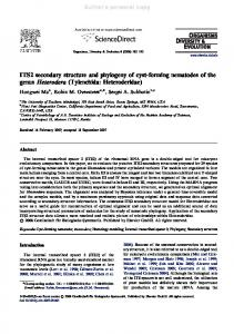 ITS2 secondary structure and phylogeny of cyst-forming nematodes of ...