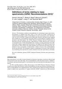 IUPAC Recommendations 2013