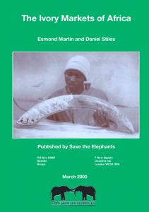 Ivory Markets, Africa cover - Save the Elephants