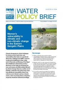 IWMI Water Policy Brief - Issue 35 - cgiar