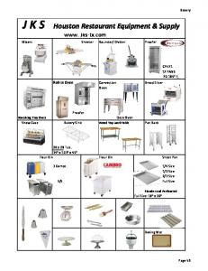 J K S Houston Restaurant Equipment & Supply