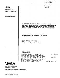 J NASA Technical Memorandum - NASA Technical Reports Server ...