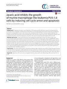 Jacaric acid inhibits the growth of murine macrophage ... - Springer Link