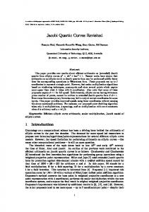 Jacobi Quartic Curves Revisited - Cryptology ePrint Archive