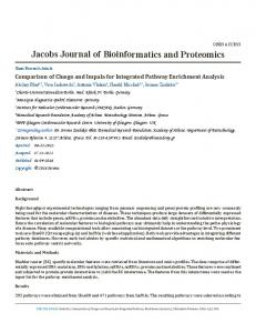 Jacobs Journal of Bioinformatics and Proteomics