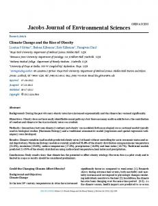 Jacobs Journal of Environmental Sciences - Jacobs Publishers