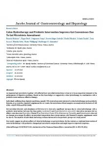 Jacobs Journal of Gastroenterology and Hepatology - Jacobs Publishers