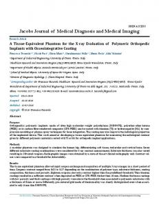 Jacobs Journal of Medical Diagnosis and Medical