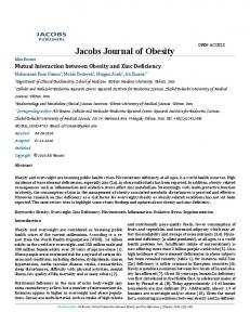 Jacobs Journal of Obesity