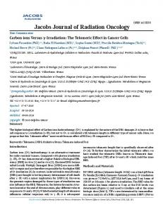 Jacobs Journal of Radiation Oncology