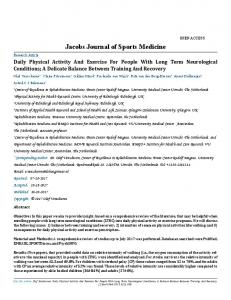 Jacobs Journal of Sports Medicine