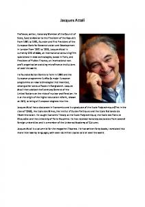 Jacques Attali: Biographical Notes - African Development Bank
