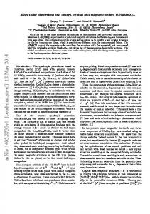 Jahn-Teller distortions and charge, orbital and magnetic orders in ...
