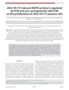 JAK2-V617F-induced MAPK activity is regulated by ...