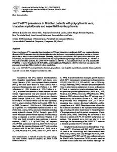 JAK2 V617F prevalence in Brazilian patients with polycythemia vera ...