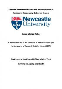James Michael Fisher Northumbria Healthcare NHS Foundation Trust ...