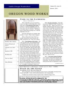 Janary - Guild of Oregon Woodworkers