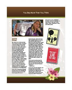 Janine Driver You Say More Than You Think - RegOnline