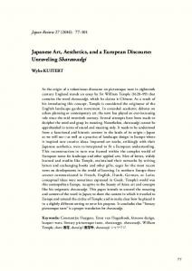 Japanese Art, Aesthetics, and a European Discourse: Unraveling ...