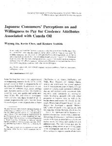 Japanese Consumers' Perceptions 0n and ... - AgEcon Search